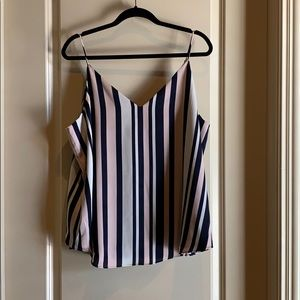 NWT Express pink, white, and blue striped tank